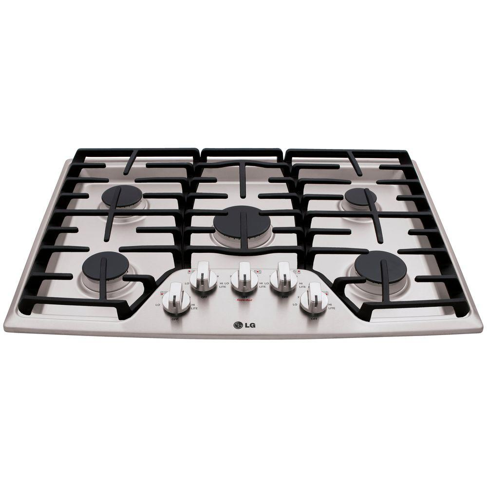 Recessed Gas Cooktop In Stainless Steel With 5 Burners Including 17k
