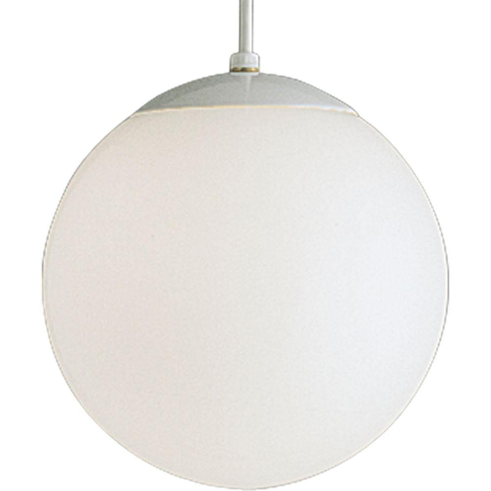 Progress Lighting 1 Light White Pendant P4402 29 The Home Depot
