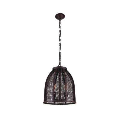 Vega 2-Light Reddish Black Pendant