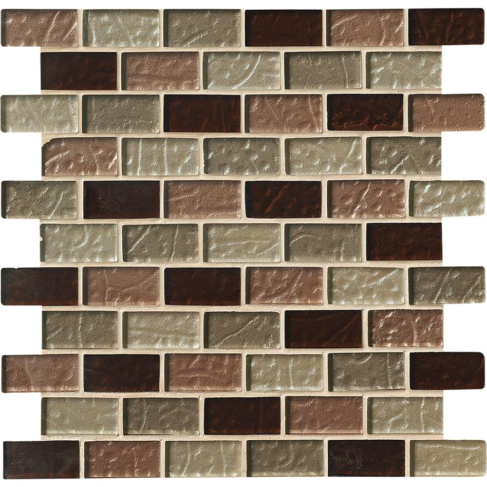 MSI Ayres Blend 12 in. x 12 in. x 8mm Gl Mesh-Mounted Mosaic Tile (10 on