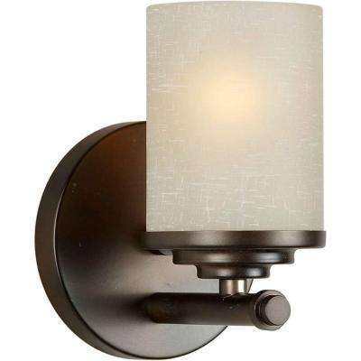 Oralee 1-Light Antique Bronze Bath Vanity Light