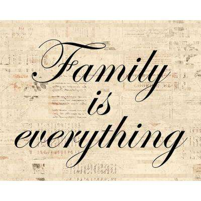"""11 in. x 14 in. """"Family is Everything"""" Acrylic Wall Art Print"""