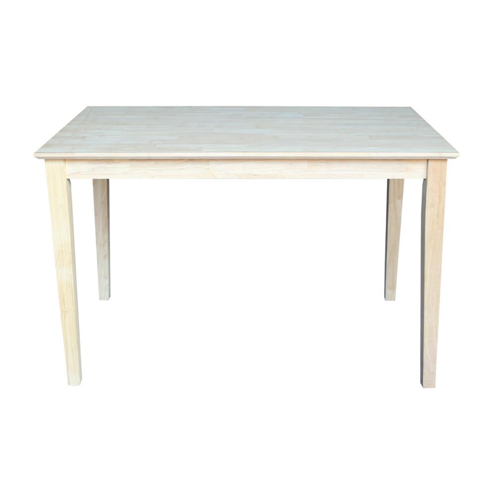 International Concepts Unfinished Bench Be 1: International Concepts Unfinished Skirted Dining Table-K