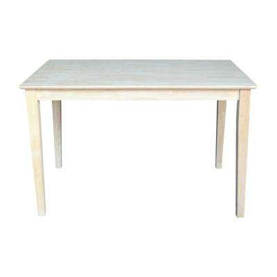 Unfinished Skirted Dining Table