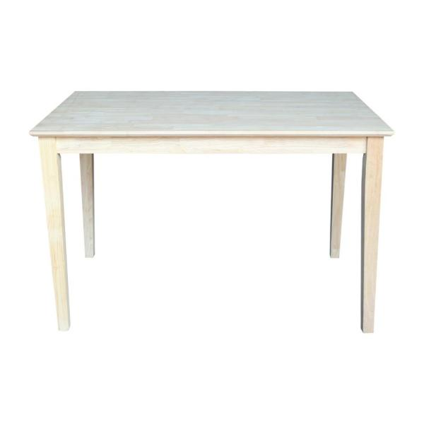 Unfinished Solid Wood Dining Table