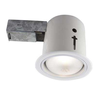 Bazz 5-in. White Baffle Recessed Incandescent Lighting kit