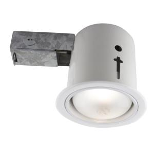 Dimmable Directional 5-in Bazz 900-114 Serie 900 Recessed Halogen Light Fixture White