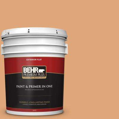 5 gal. #MQ4-36 Thai Ice Tea Flat Exterior Paint and Primer in One