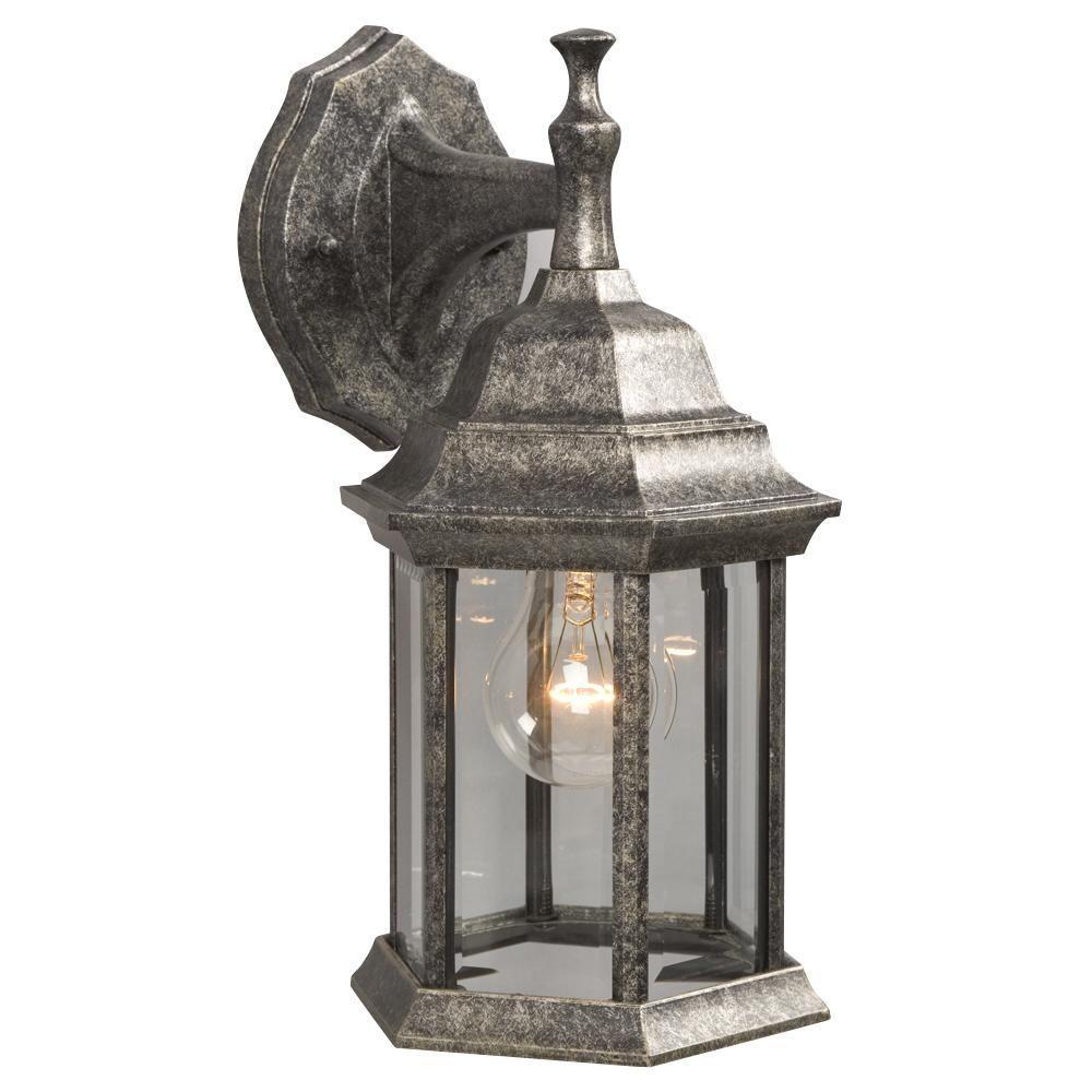 Filament Design Negron 1-Light Outdoor Antique Silver Wall Lantern