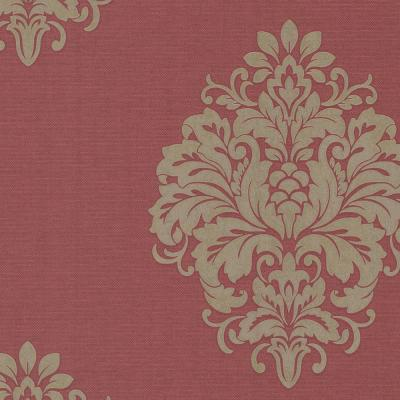 8 in. x 10 in. Duchess Red Damask Wallpaper Sample