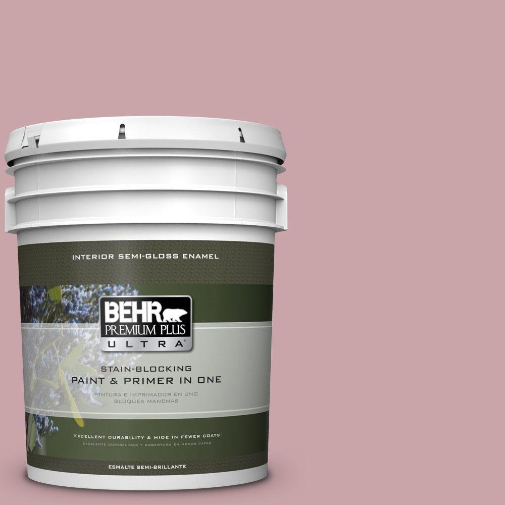 5 gal. #HDC-CT-08A Hydrangea Bouquet Semi-Gloss Enamel Interior Paint