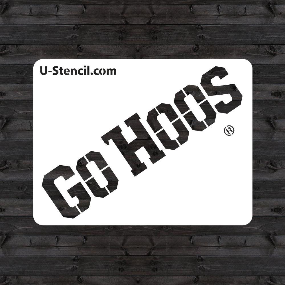 "Virginia ""GO HOOS"" Mini Stencil"