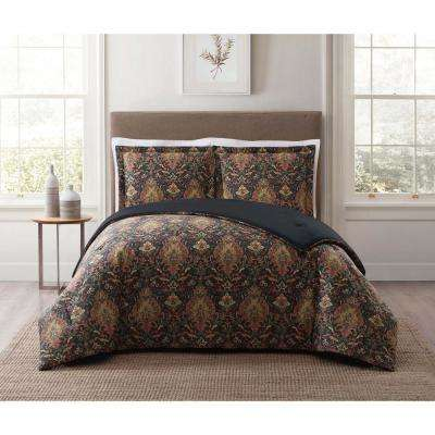 Cambridge Black Multi Full and Queen XL Comforter Set