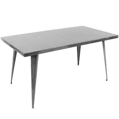 Austin 60 in. Brushed Silver Dining Table