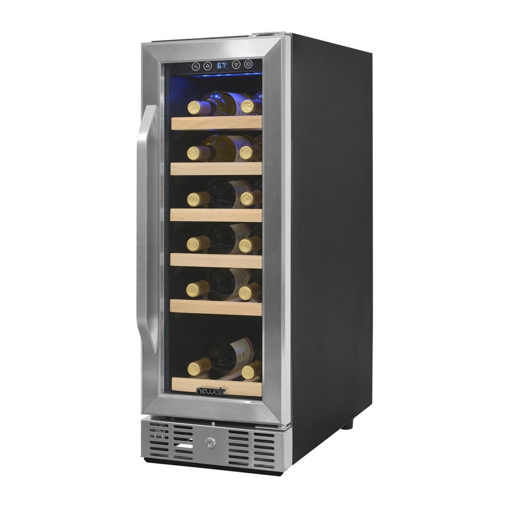 newair 19 bottle built in wine cooler awr 190sb the home depot. Black Bedroom Furniture Sets. Home Design Ideas