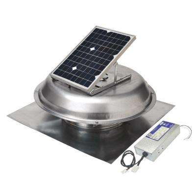 500/900 CFM Dual-Powered Roof-Mount Exhaust Fan (Solar/Electric Hybrid)