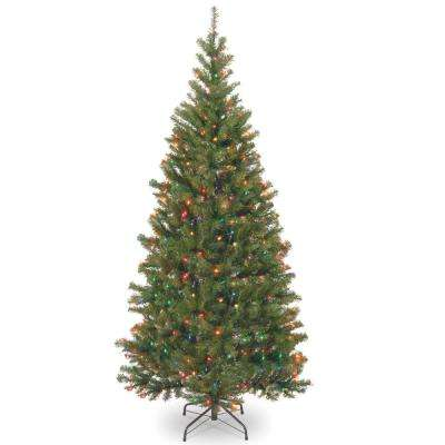 7-1/2 ft. Aspen Spruce Hinged Tree with 450 Multi-Lights