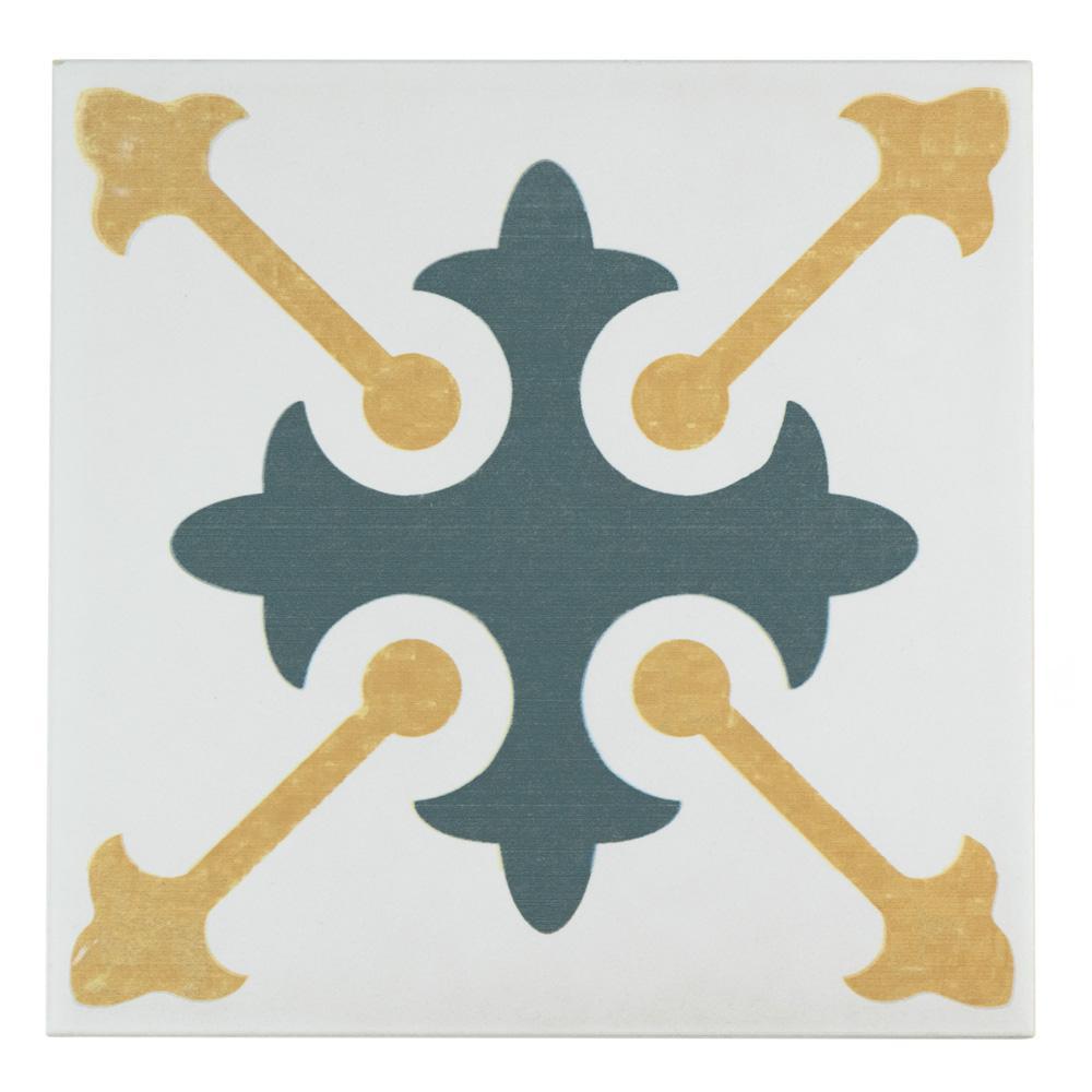 Revival Spectrum Encaustic 7-3/4 in. x 7-3/4 in. Ceramic Floor and