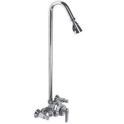 Sentinel Mark II 2-Handle 3-Spray Exposed Shower with Showerhead in Polished Chrome (Valve Not Included)