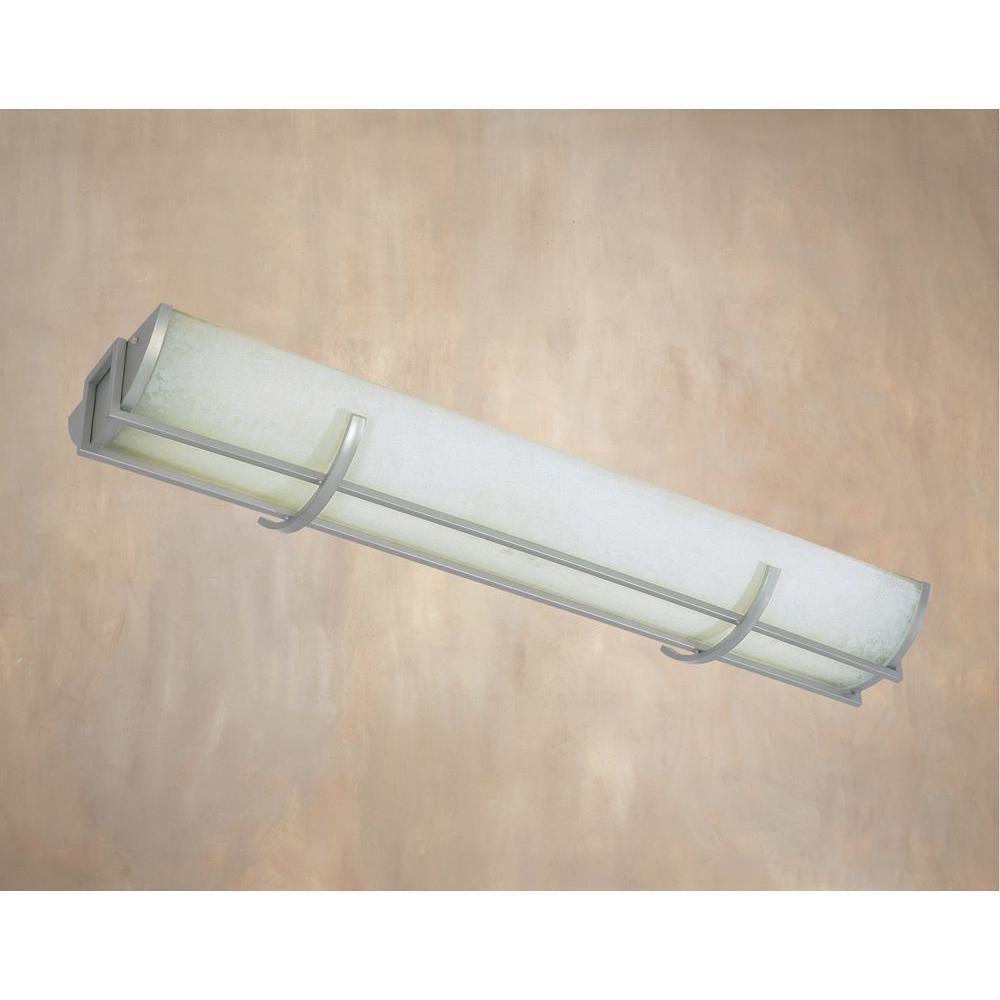 Beyond Modern Collection 3-Light Brushed Nickel Fluorescent Flush Mount