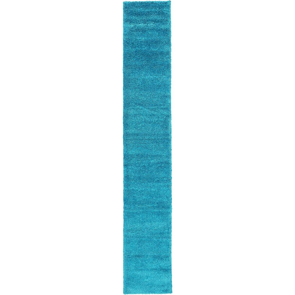 Unique Loom Solo Turquoise 2 Ft X 13 Ft Runner Rug