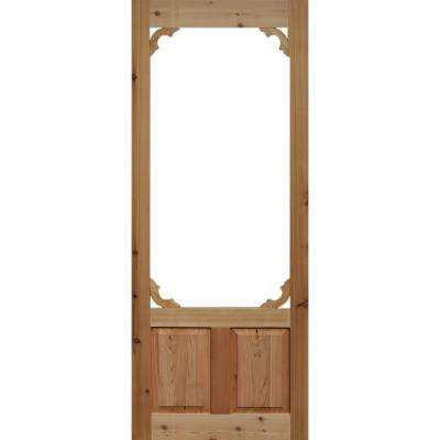 32 in. x 80 in. Woodland Cedar Screen Door