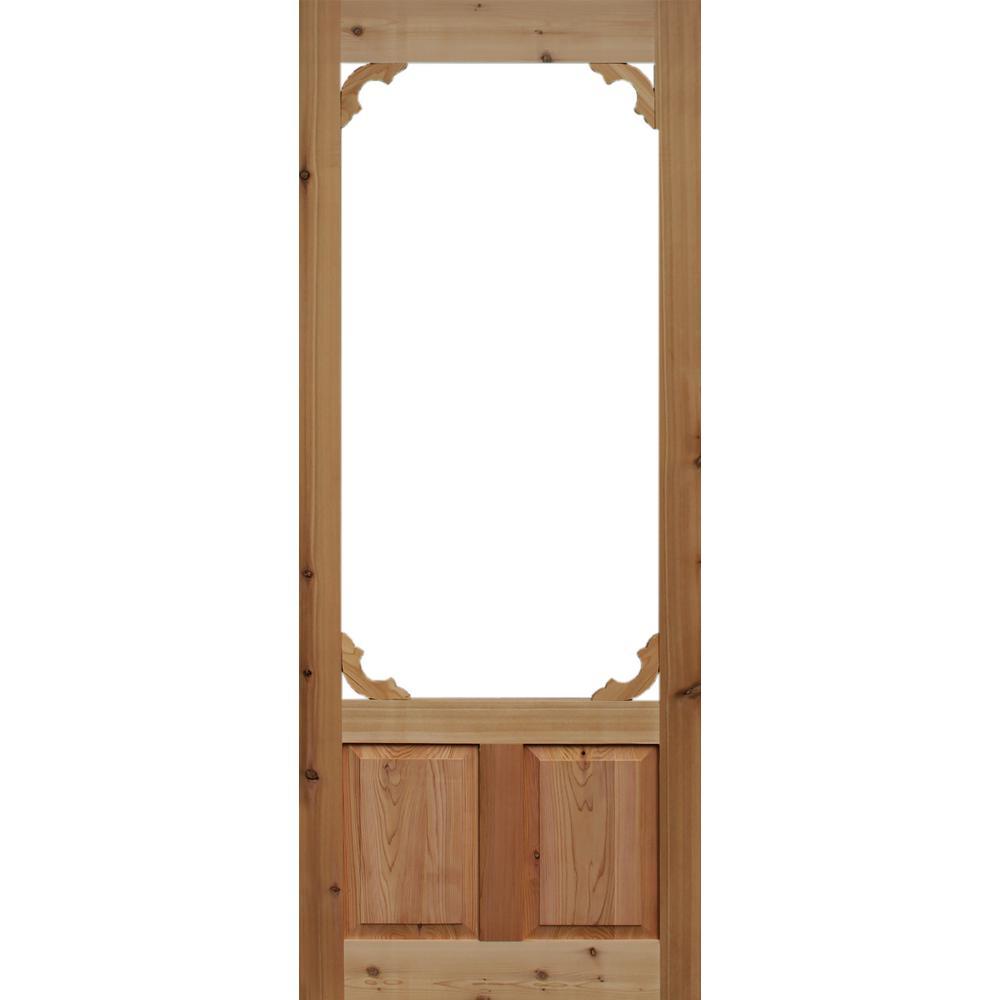 Marvelous 32 In. X 80 In. Woodland Cedar Screen Door