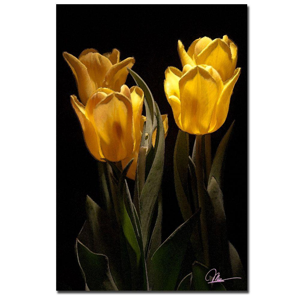 24 in. x 16 in. Yellow Blooms II Canvas Art
