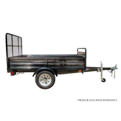 4 5 ft  x 7 5 ft  Single Axle Utility Trailer Kit with Drive-Up Gate