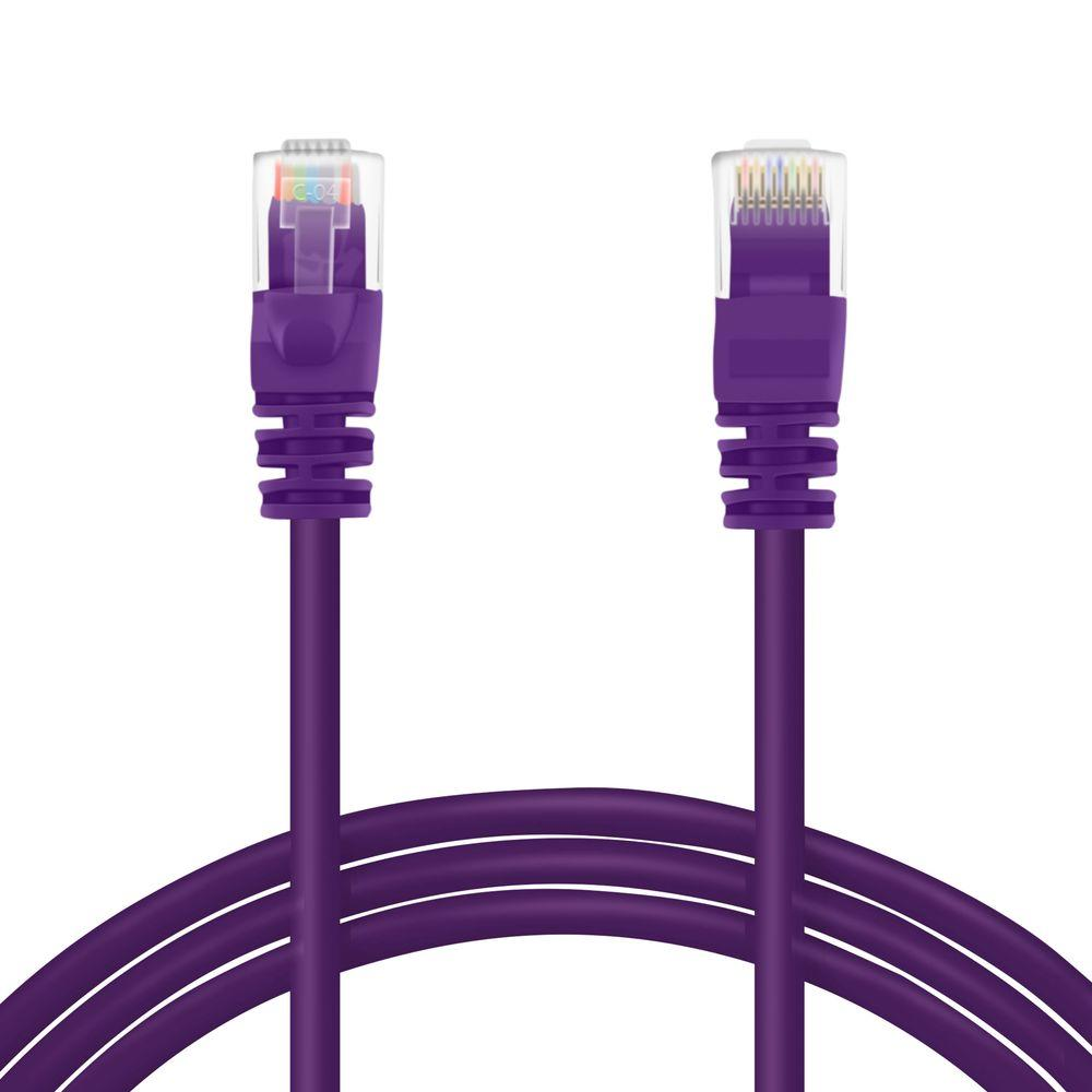 GearIt 5 ft. Cat5e RJ45 Snagless Ethernet Computer LAN Network Patch Cable - Purple (20-Pack)