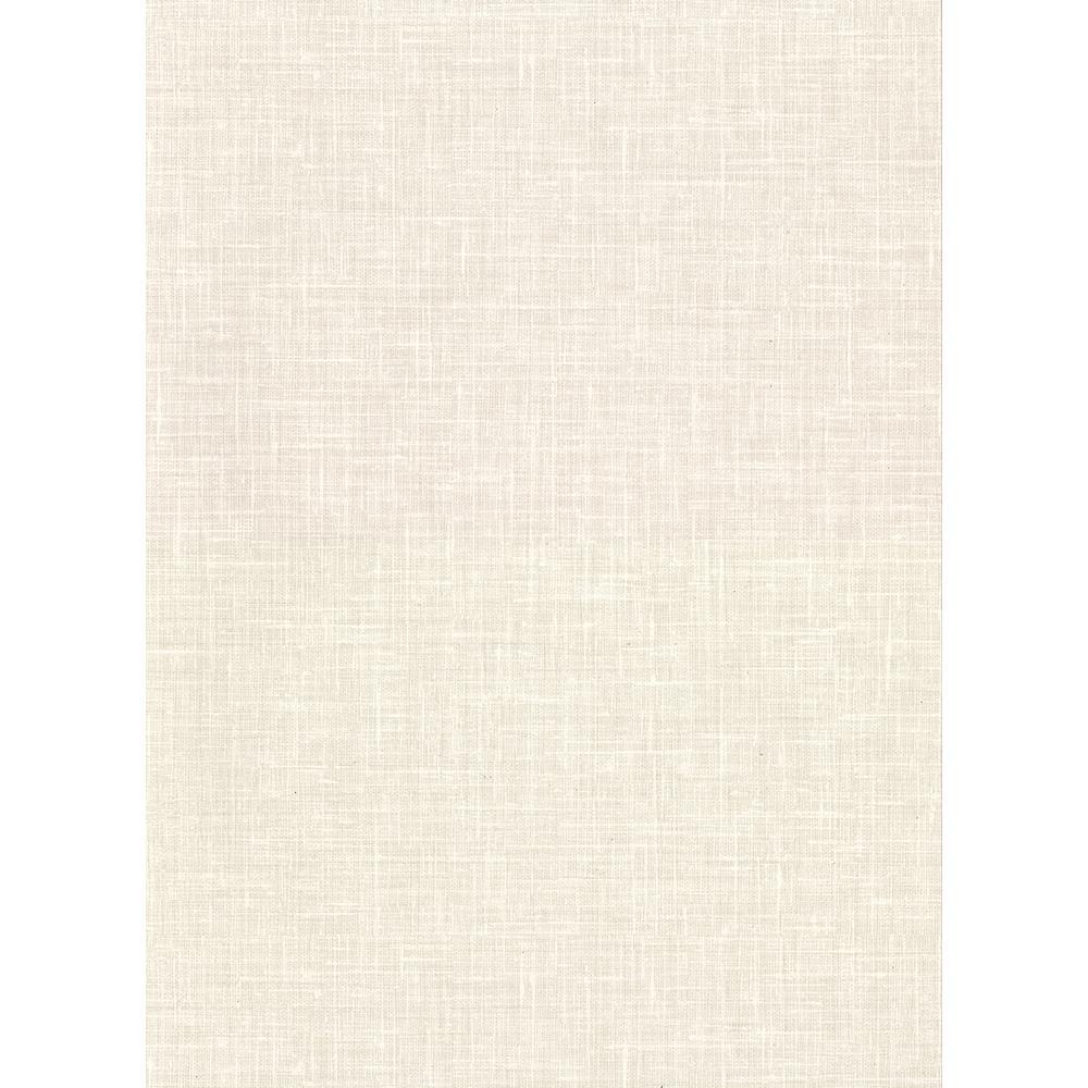 60.8 sq. ft. Upton Cream Faux Linen Wallpaper