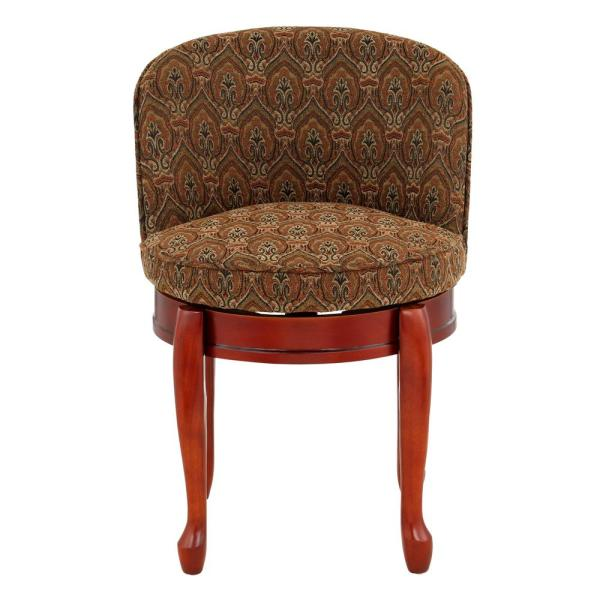 Wondrous Home Decorators Collection Delmar Tapestry High Back Swivel Andrewgaddart Wooden Chair Designs For Living Room Andrewgaddartcom