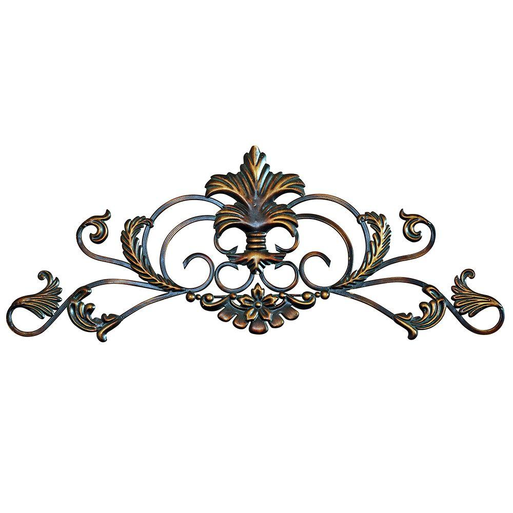 Yosemite Home Decor 36 in. x 13.5 in. Iron Decor Accent Wall Hanging-DISCONTINUED