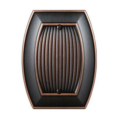 Sea Grass Blank Wall Plate, Oil-Rubbed Bronze