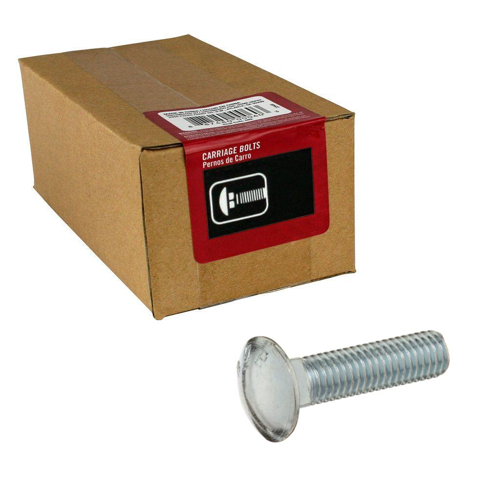 Everbilt 1/2 in.-13 x 2 in.  Zinc Plated Carriage Bolt (20-Pack)