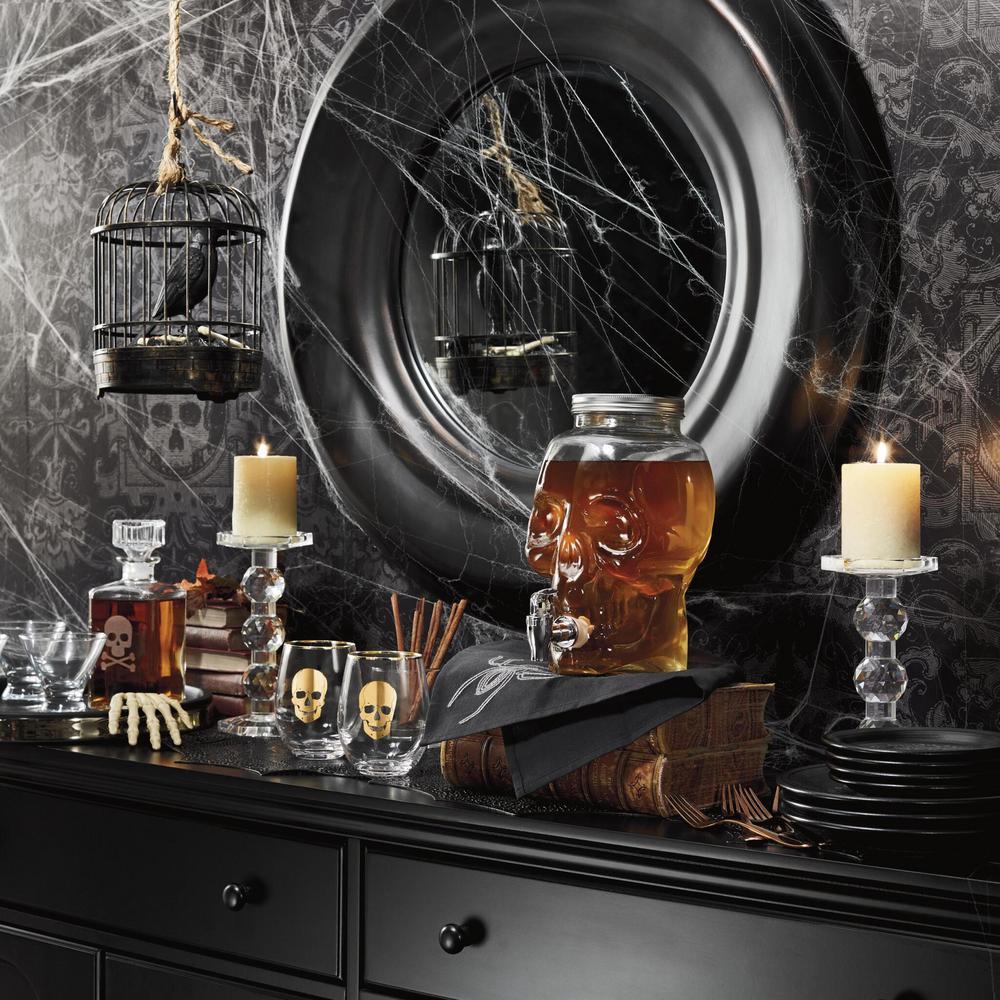 Cathy's Concepts Skull & Crossbones 34 oz. Glass Decanter