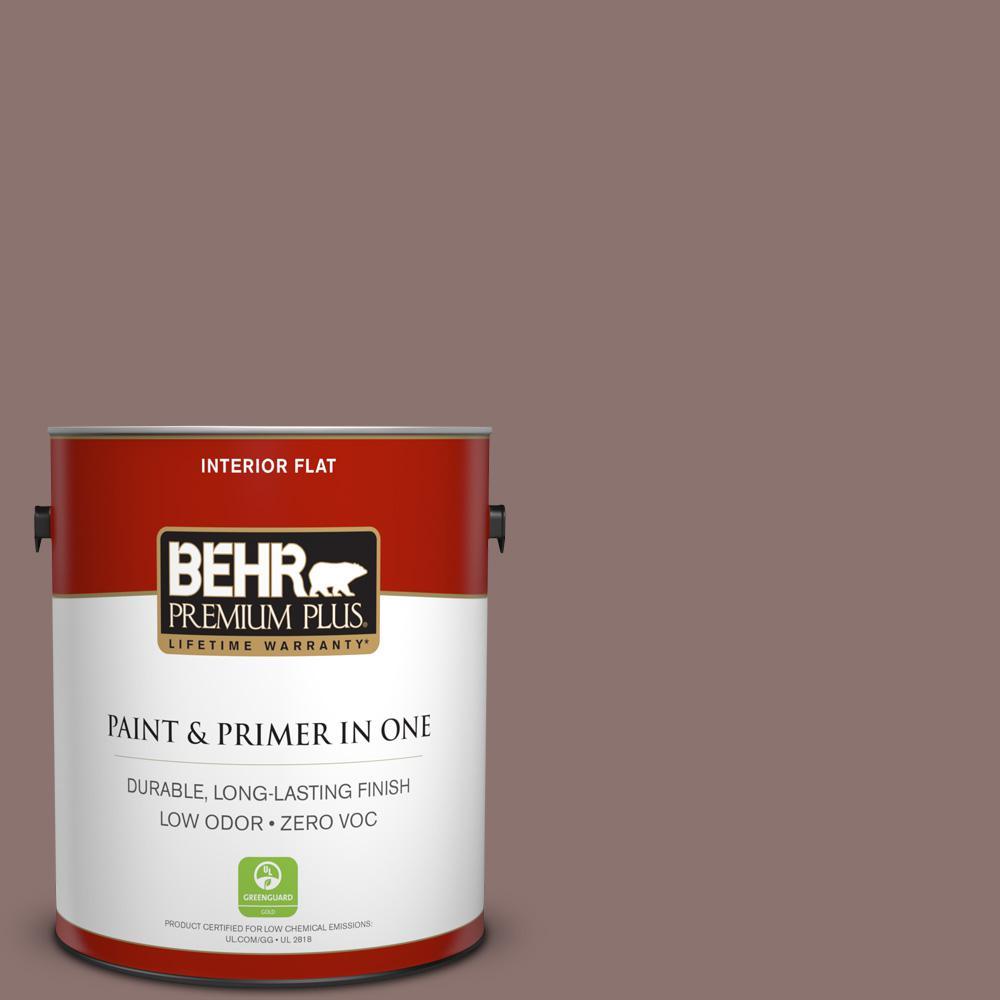 BEHR Premium Plus 1-gal. #720B-5 Bitter Briar Zero VOC Flat Interior Paint