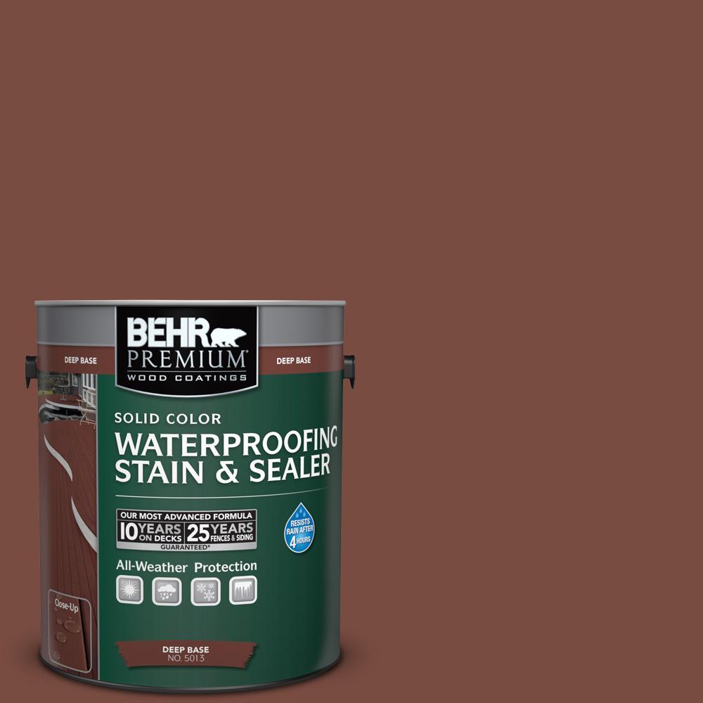 1 gal. #S170-7 Dark Cherry Mocha Solid Waterproofing Stain and Sealer