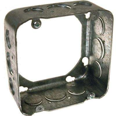 4-11/16 in. Square Drawn Extension Ring, 2-1/8 in. Deep with 1/2 and 3/4 in. KO's (25-Pack)