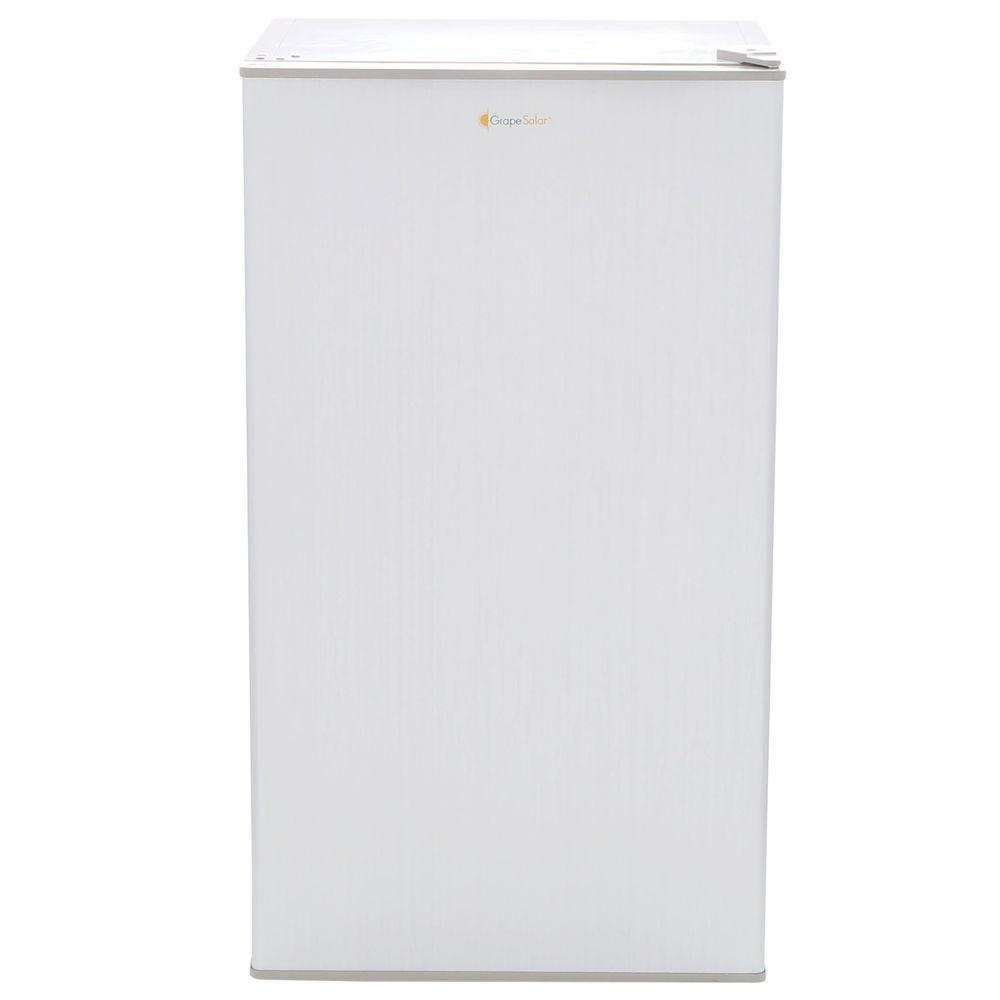 Grape Solar Glacier 5 cu. ft. Mini Refrigerator in Brushed Gray with DC/AC Adapters
