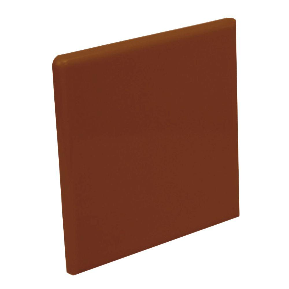 U.S. Ceramic Tile Color Collection Bright Copper 4-1/4 in. x 4-1/4 in. Ceramic Surface Bullnose Corner Wall Tile-DISCONTINUED