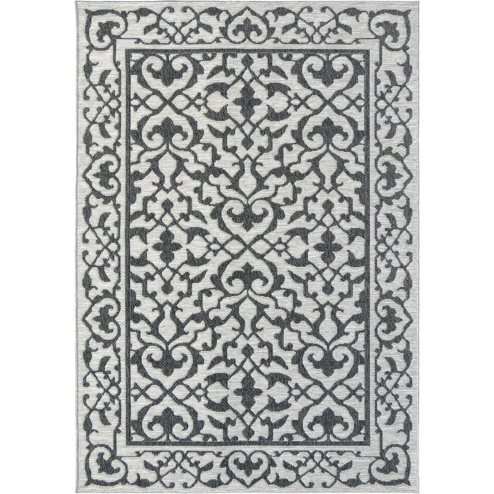 Orian Rugs Patterson Charcoal: Orian Rugs Alexa Classic Charcoal 5 Ft. 1 In. X 7 Ft. 6 In