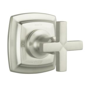Margaux 1-Handle Volume Control Valve Trim Kit in Vibrant Brushed Nickel with Cross Handle (Valve Not Included)