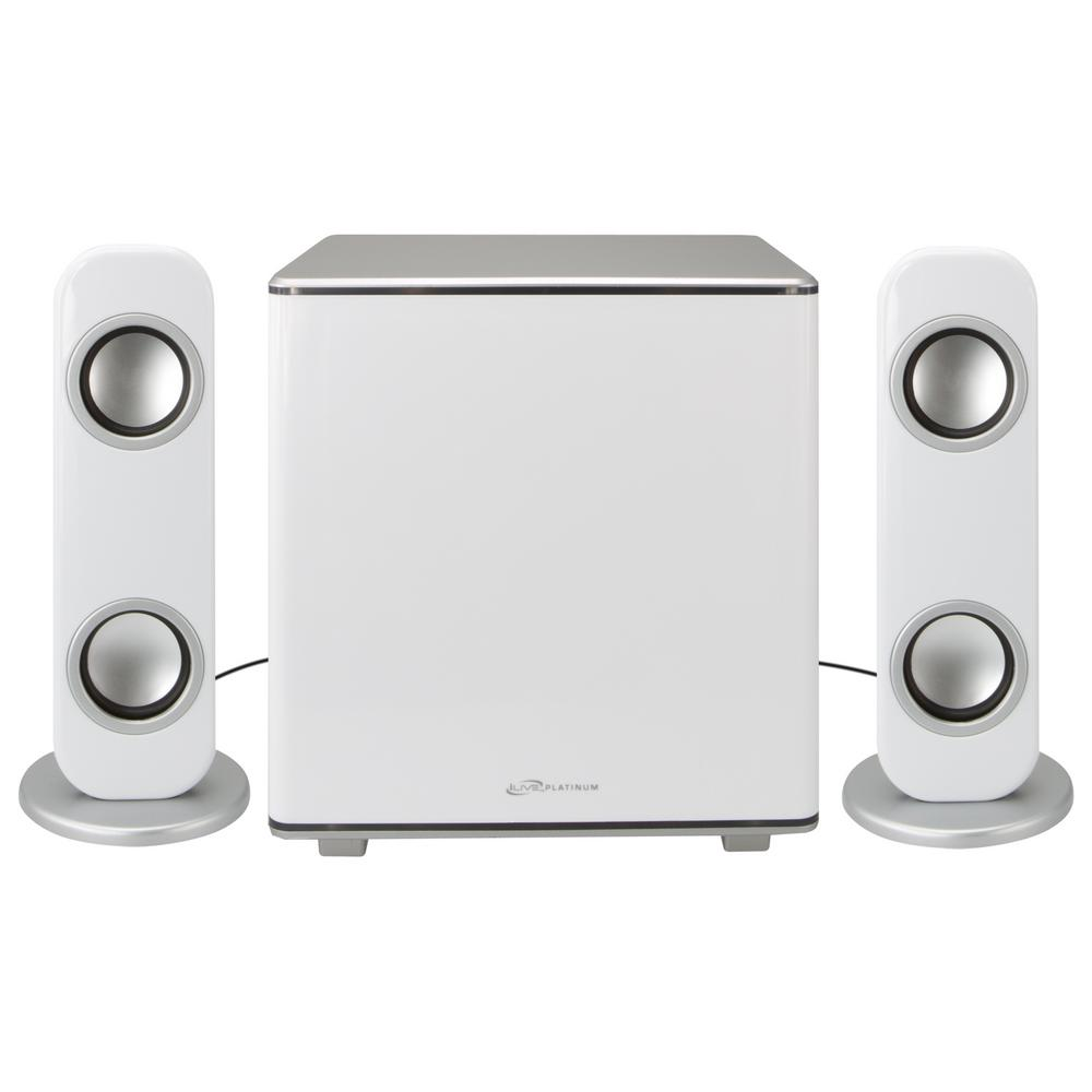 iLive Bluetooth 2.1-Channel Home Music System with LED Lights