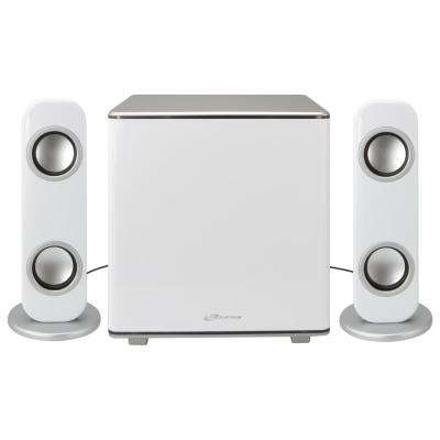 Bluetooth 2.1-Channel Home Music System with LED Lights