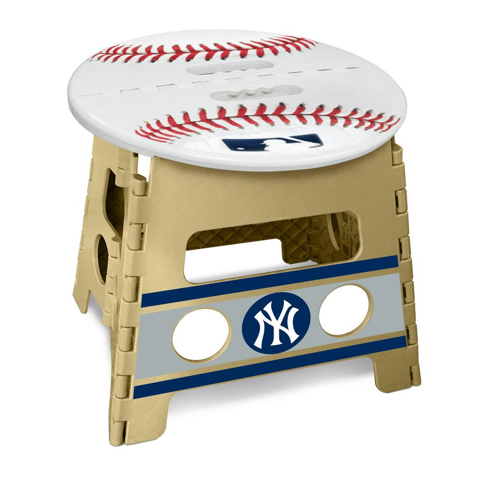 Strange Fanmats Mlb New York Yankees Plastic Folding Step Stool Bralicious Painted Fabric Chair Ideas Braliciousco