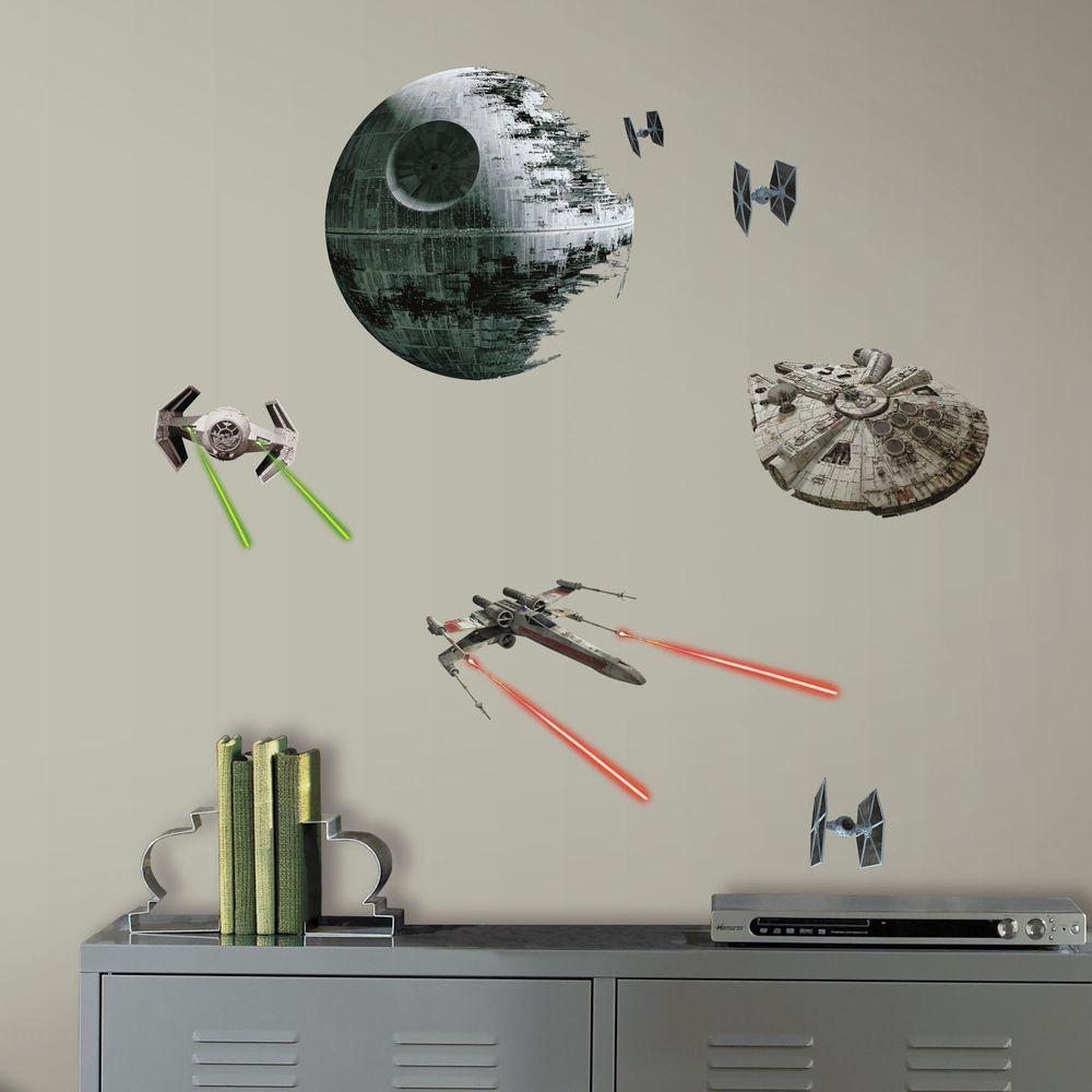 RoomMates 5 in. W x 11.5 in. H Star Wars EP VII Spaceship...