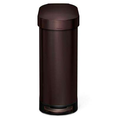 12 Gal. Steel Slim Step Can in Dark Bronze