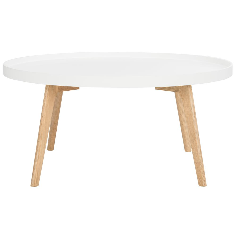 Merveilleux Safavieh Rue Round White Coffee Table