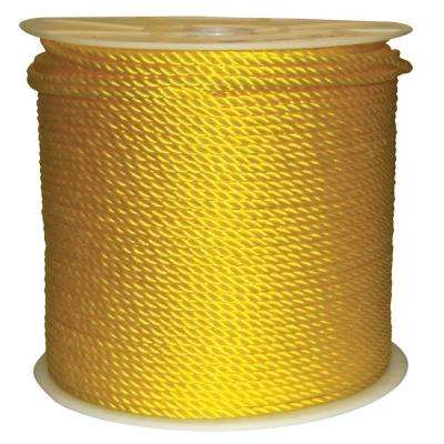 1/4 in. x 1200 ft. Twisted Poly Rope Yellow